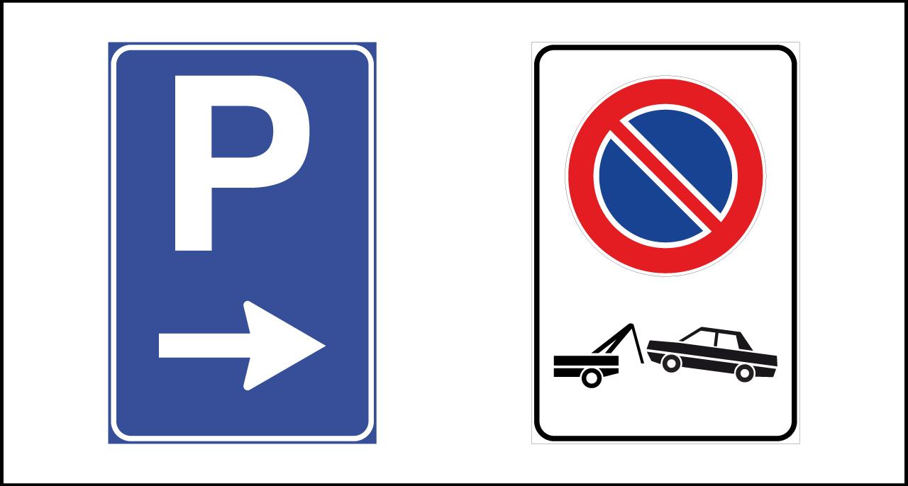 Segnali di fermata – sosta – parcheggio