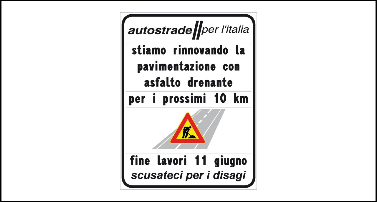 Fig. II 835 – Avviso con informazioni lavori per rinnovo pavimentazione