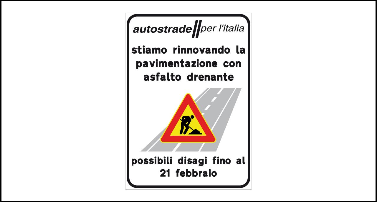 Fig. II 840 – Avviso lavori rinnovo per pavimentazione