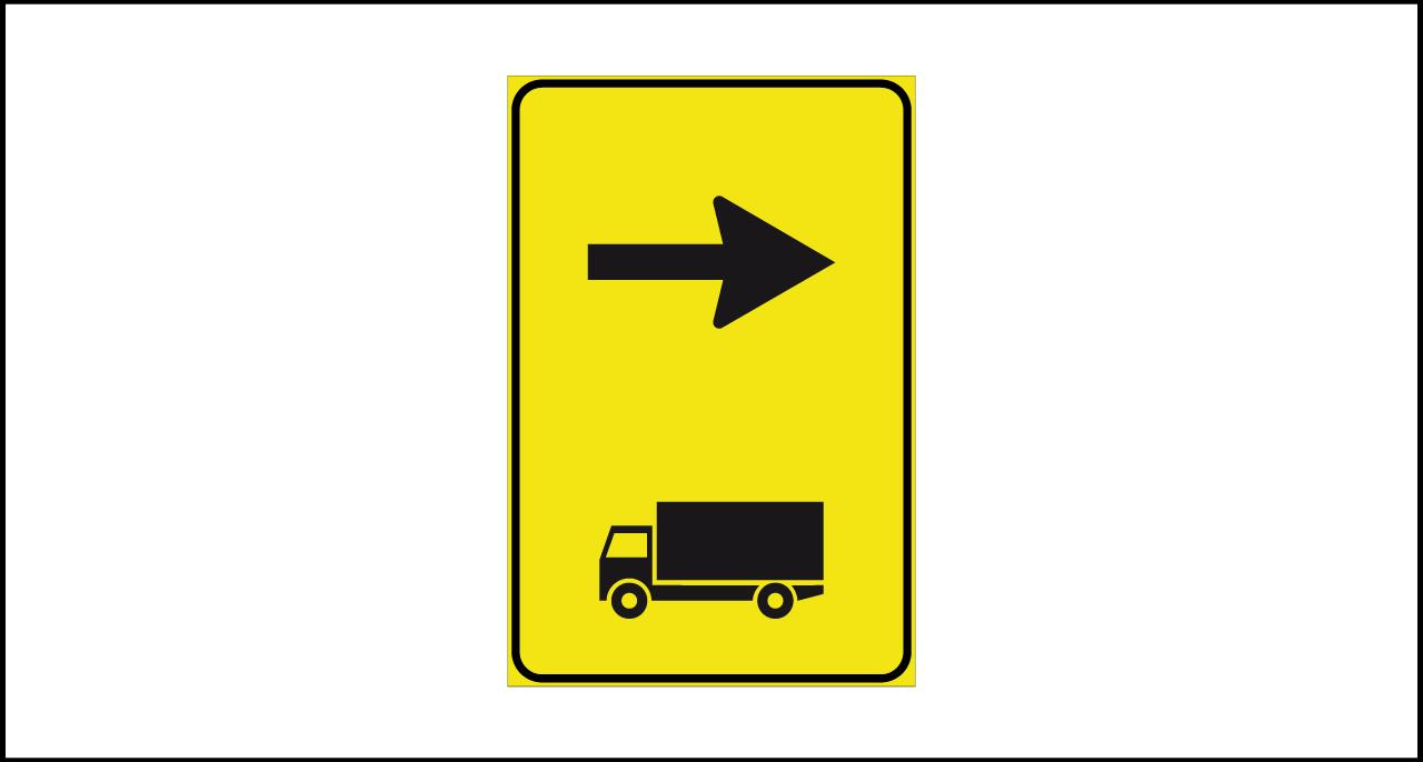 Fig. II 410/b Art.43 – Direzione autocarri consigliata