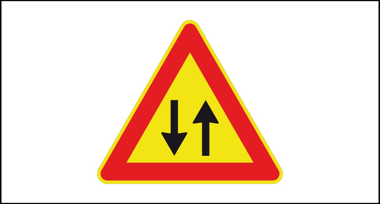 Fig. II 387 Art.31 – Doppio senso di circolazione