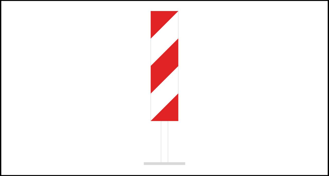 Fig. II 394 Art.33 – Paletto di delimitazione