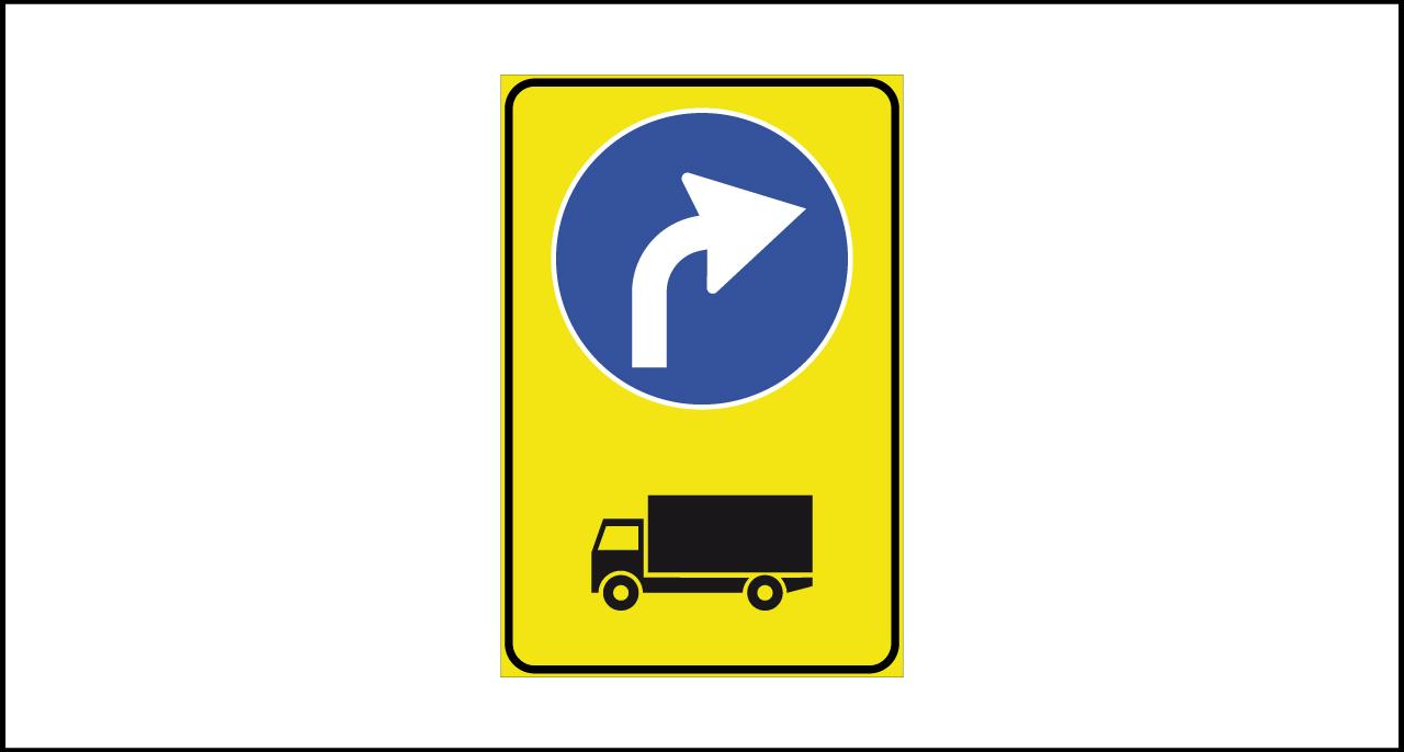 Fig. II 409/a Art.43 – Preavviso di deviazione autocarri obbligatoria