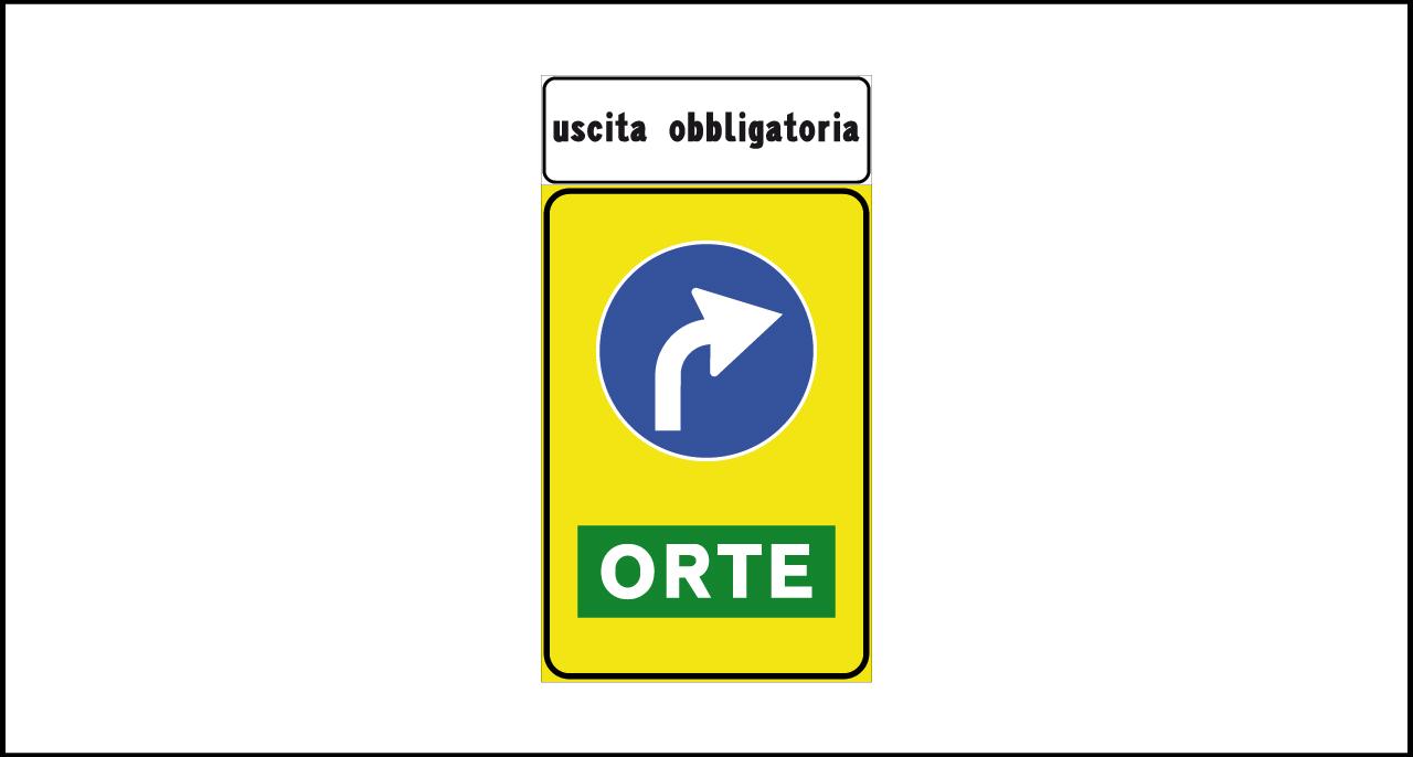 Fig. II 80/f Art.122 – Preavviso di direzione obbligatoria a destra