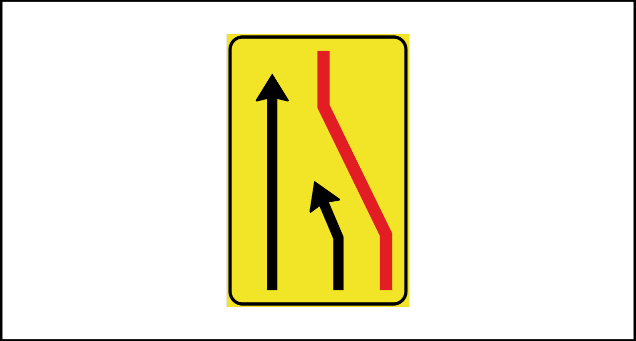 Fig. II 411/a Art.43 – Segnale di corsia chiusa (destra)