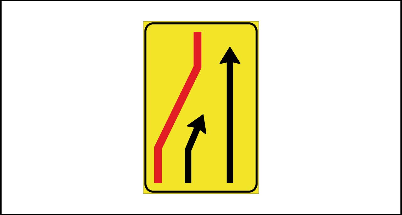 Fig. II 411/a Art.43 – Segnale di corsia chiusa (sinistra)