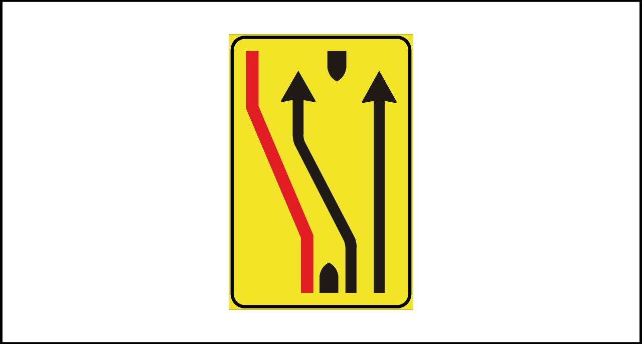 Fig. II 411/f Art.43 – Segnale di corsie chiuse