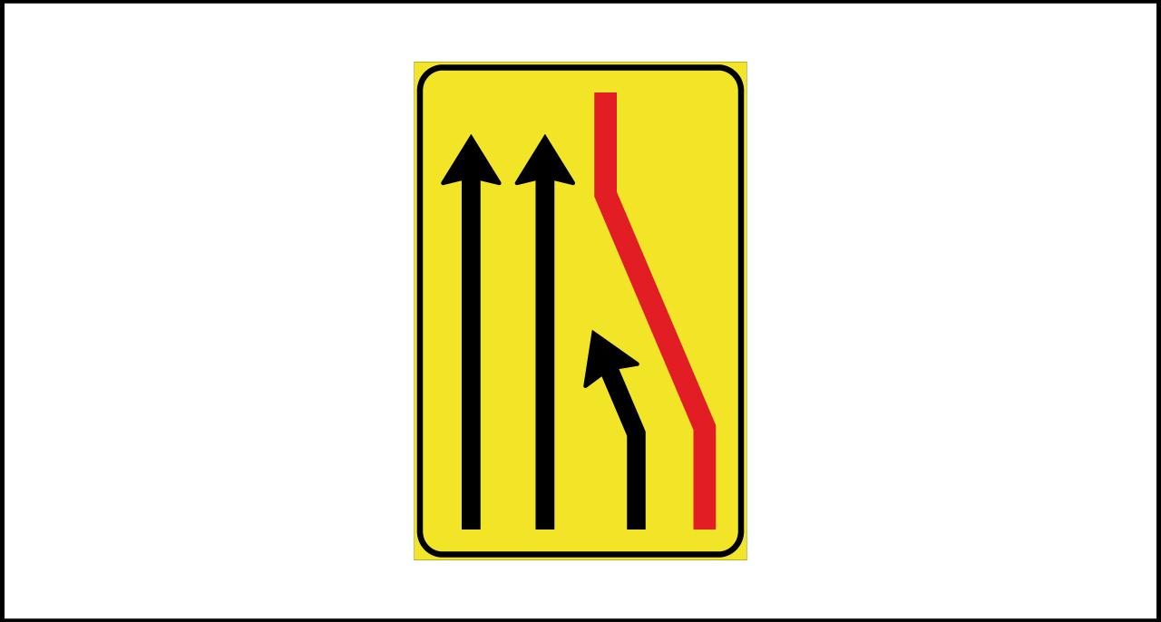 Fig. II 411/b Art.43 – Segnale di corsia chiusa (destra)