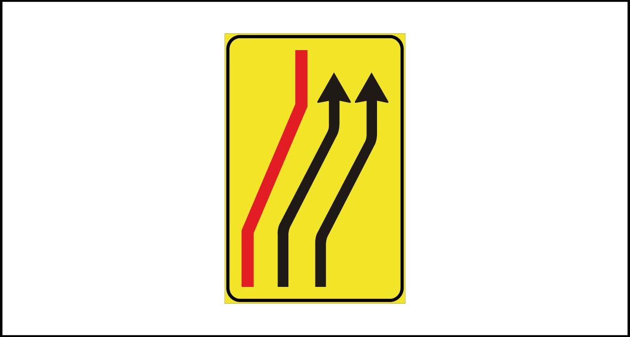 Fig. II 411/d Art.43 – Segnale di corsie chiuse