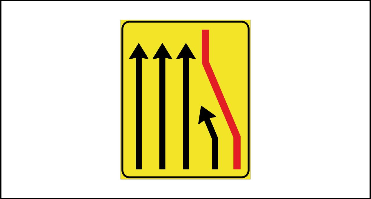 Fig. II 412/h Art.43 – Segnale corsia chiusa