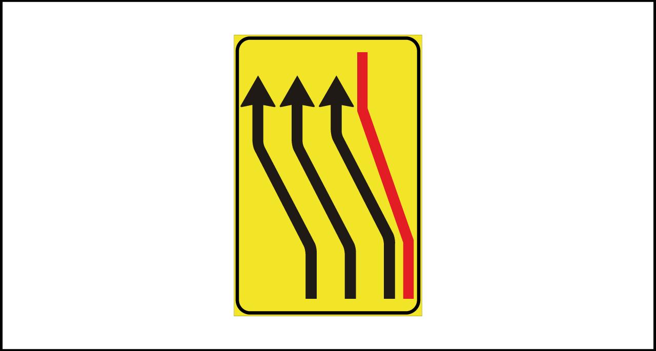 Fig. II 412/f Art.43 – Segnale di rientro in carreggiata