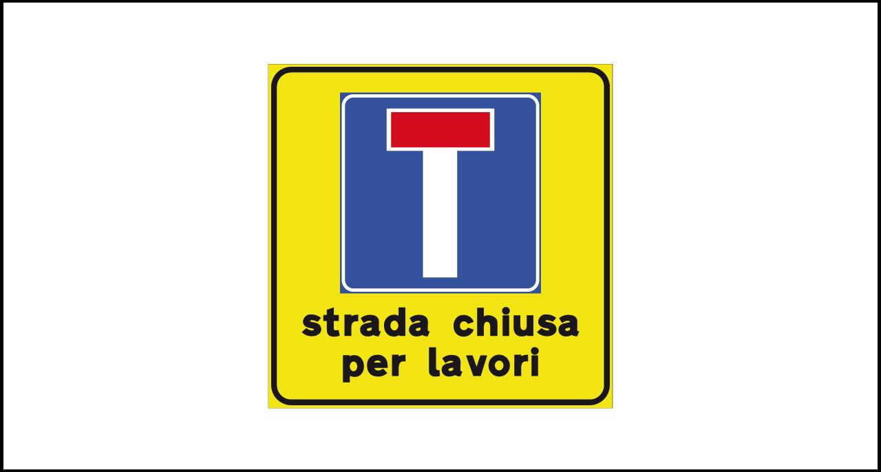 Fig. II 810 – Strada chiusa per lavori
