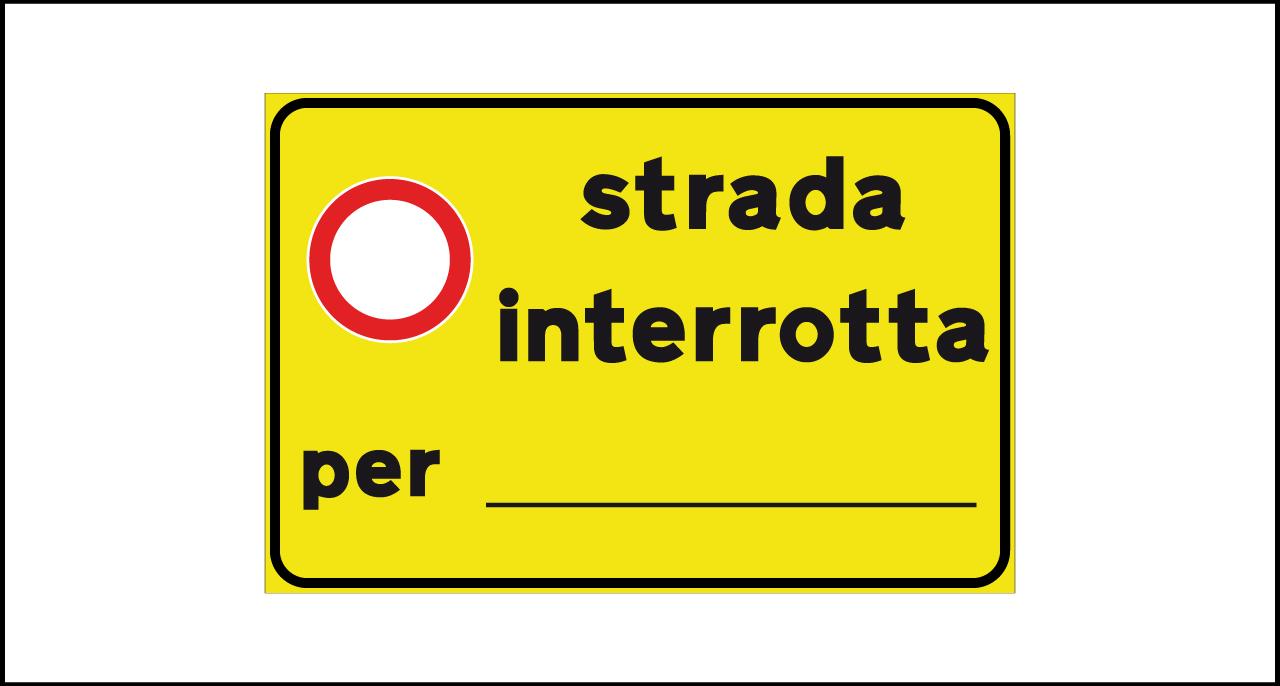 Fig. II 822 – Strada interrotta