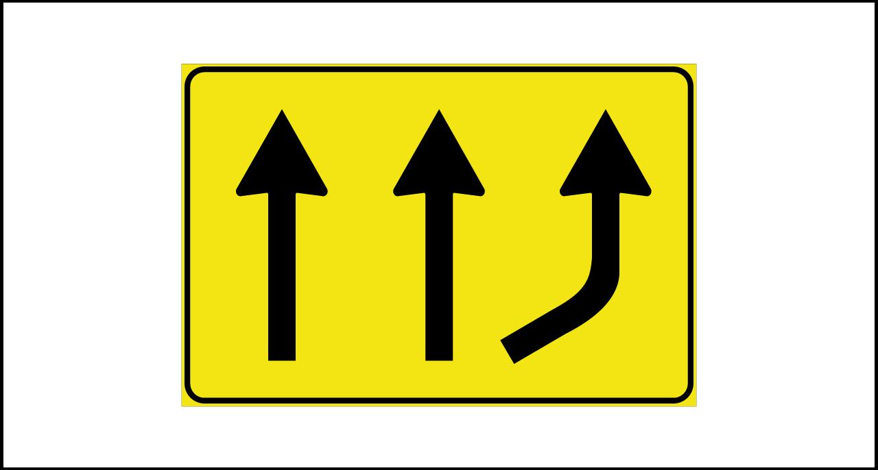 Fig. II 813 – Variazione corsie disponibili in aumento