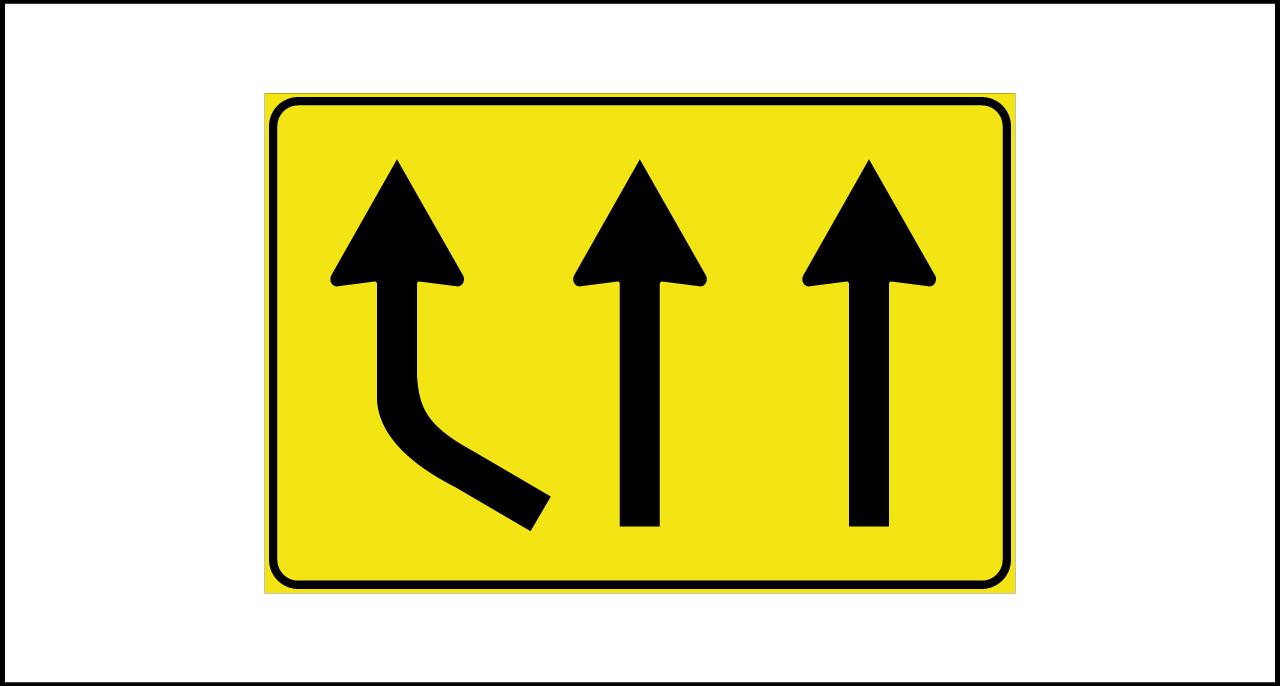 Fig. II 812 – Variazione corsie disponibili in aumento
