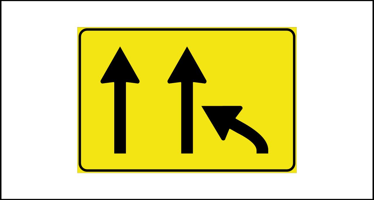 Fig. II 815 – Variazione corsie disponibili in riduzione