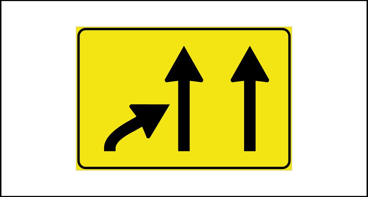 Fig. II 814 – Variazione corsie disponibili in riduzione